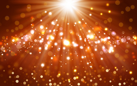 stars background: Glittery golden christmas background with stars