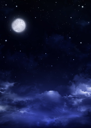 nightly sky with full moon, background