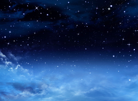day night: Night sky with stars