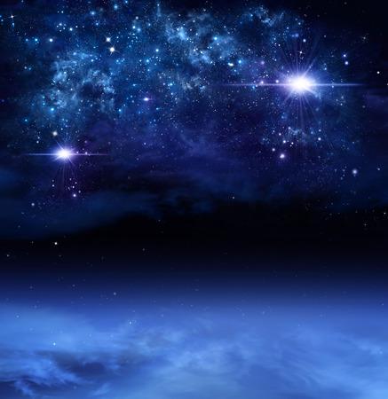 深宇宙、抽象的な背景 写真素材