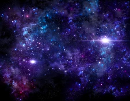 별 밤 하늘의 아름다운 배경