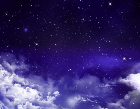 year s: Night sky with stars