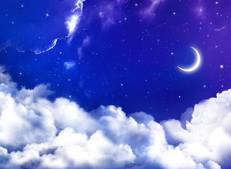 아름다운 배경, 야간 하늘
