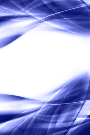 bright: abstract blue background with fractal lines