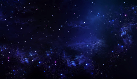 sky night: starry night sky deep outer space Stock Photo