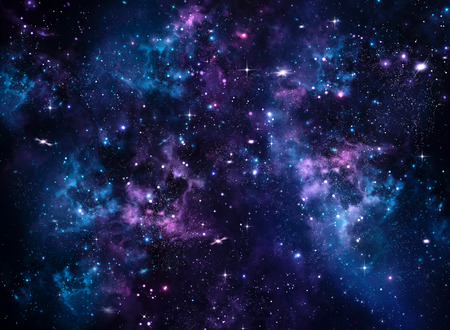Galaxy, abstract blue background Stock Photo