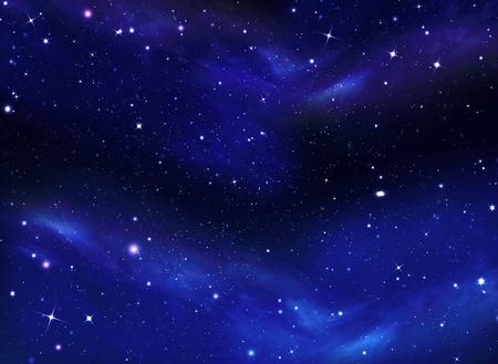 anochecer: Cielo nocturno, la Vía Láctea, la galaxia de fondo