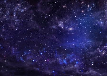 noche estrellada: noche cielo estrellado espacio exterior profundo