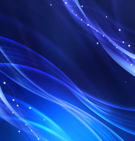 waves abstract: abstract blue waves background Stock Photo