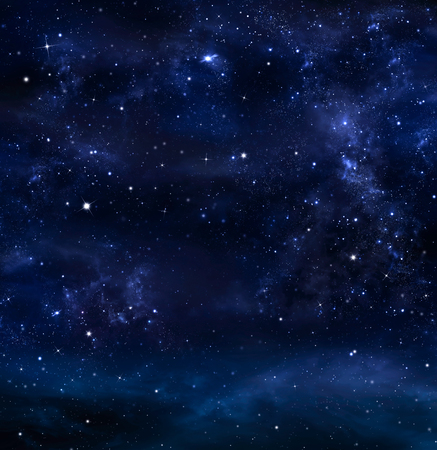 夜空、天の川、銀河背景 写真素材