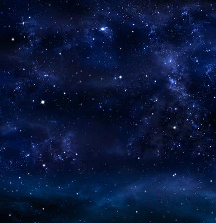 Night Sky, La Voie Lactée, fond Galaxy