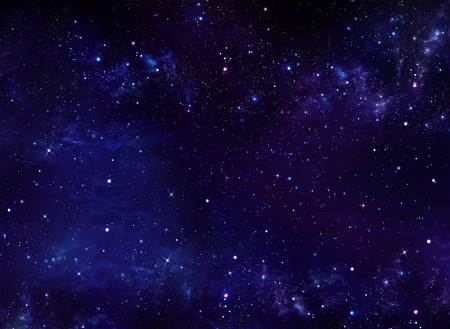 year s: deep space, abstract blue background