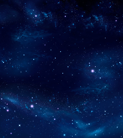 new year s day: deep space, abstract blue background