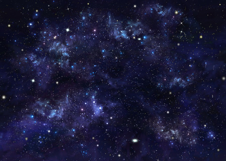 year s: deep space, starry sky Stock Photo