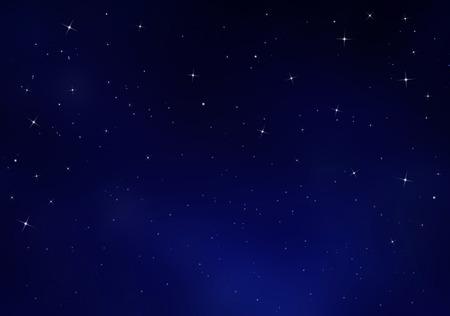 Starry sky, blue background Archivio Fotografico