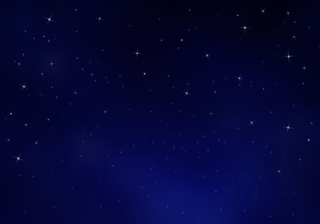 new year s day: Starry sky, blue background Stock Photo
