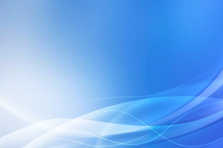 résumé, bleu, vagues de fond Banque d'images