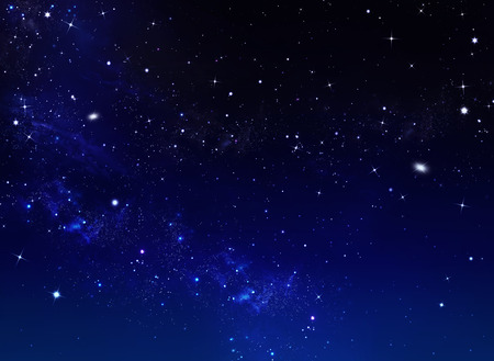 year s: Starry sky, blue background Stock Photo