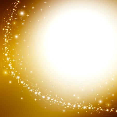 stars night: Gold Christmas background