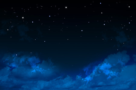christmas night: dark Night sky with stars Stock Photo