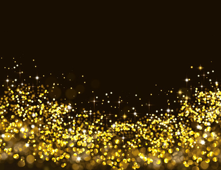 Golden glitter background with stars
