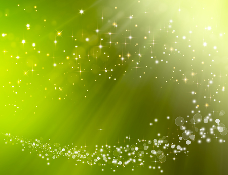 green festive fantasy, bokeh background