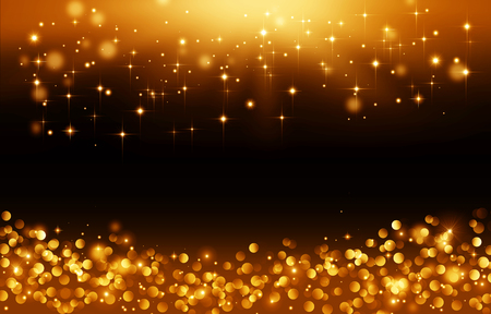 Golden lights, backgrond with stars