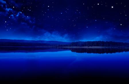 Art fantasy landscape. Quiet summer night
