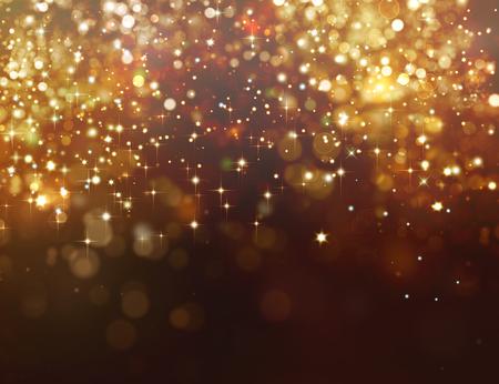 Fondo de brillo dorado con estrellas