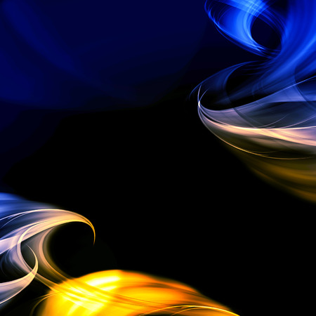 abstract blue and gold fractal background