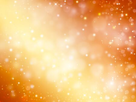 Złote światła, tło z gwiazdami