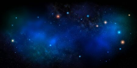 Space background with nebula and stars Stok Fotoğraf