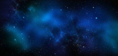espacio profundo, fondo azul abstracto