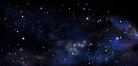 Stars in outer space, galaxy background