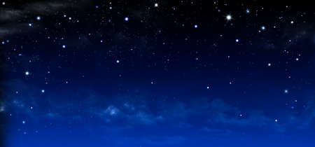 Nebula and stars in night sky - Blue Space background Фото со стока