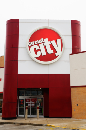 Circuit City Store And Sign Is An American Consumer Electronics Retail Chain