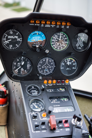 Helicopter Cockpit Flight Instruments Gauge Panel