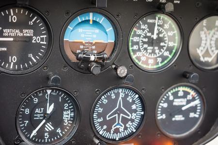 altimeter: Helicopter Flight Instruments Gauge Panel