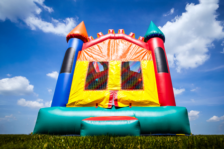 Castle inflatable bouce house childrens Image Copyright � 2009 Paul Velgos with All Rights Reserved. Stok Fotoğraf
