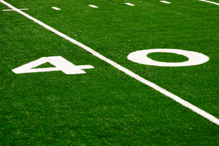 Picture of football 40 yard line number marker Stok Fotoğraf