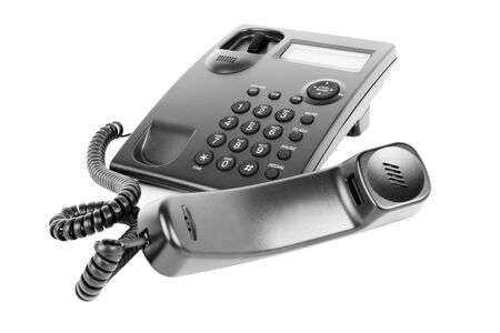 Picture of a business phone isolated on a white background with the receiver off of the hook Reklamní fotografie