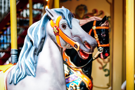 Merry-Go-Round carousel horses picture