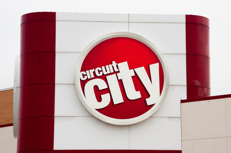 Photo of Circuit City sign. Circuit City was an American consumer electronics retail store chain. Circuit City filed for Chapter 11 bankruptcy protection on November 10, 2008. They announced on January 16, 2009, that they were going out of business and li Editorial