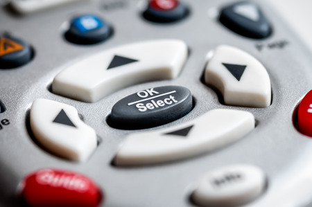 Picture of television remote control buttons close-up Reklamní fotografie