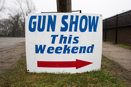 Gun Show This Weekend Directional Arrow Sign