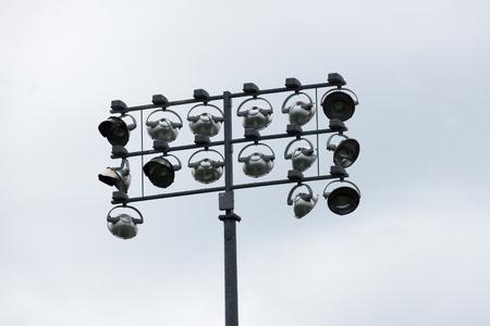 Sports Stadium Lights on a Pole Reklamní fotografie