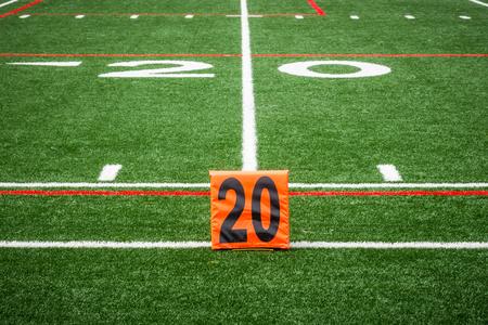 Picture of football 20 yard line number marker Reklamní fotografie