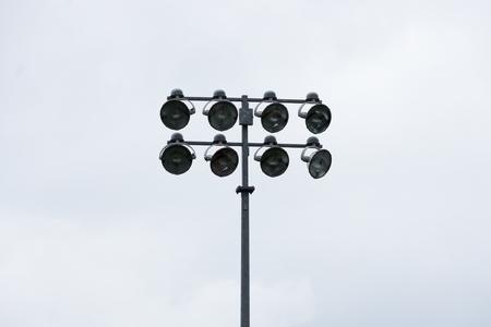 Sports Stadium Lights on a Pole Stock Photo