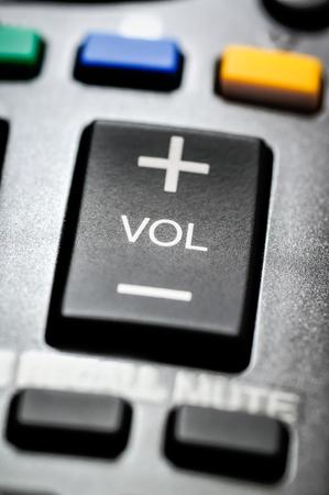 テレビのリモコンのボリュームと他のボタン。 写真素材