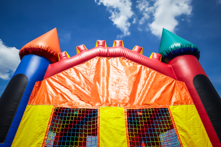 Childrens inflatable bounce house castle uppoer half. Image Copyright � 2009 Paul Velgos with All Rights Reserved.